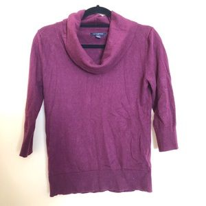 Maroon Banana republic factory cowl neck sweater